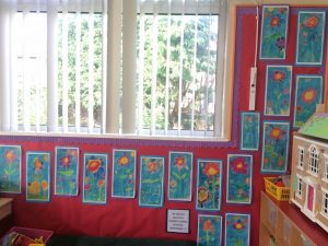 We created beautiful summer flowers with Mrs Abercromby!