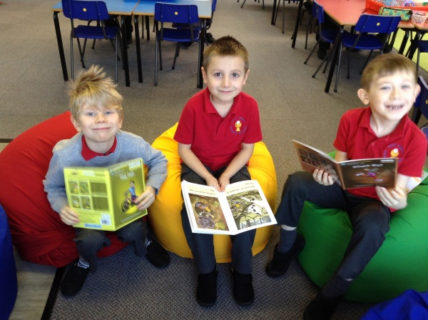 P1/2 love our class library!