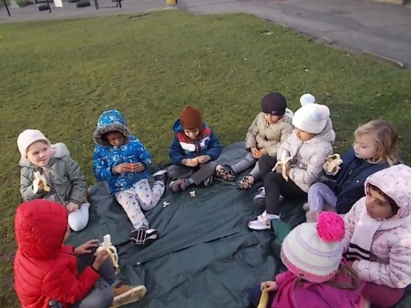 Snack Time in the Play Ground
